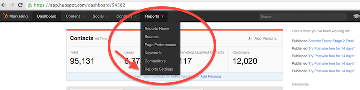HubSpot Reports Settings.png